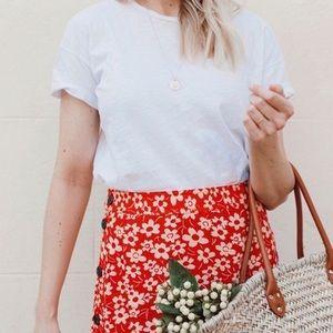 Madewell Floral Midi Skirt